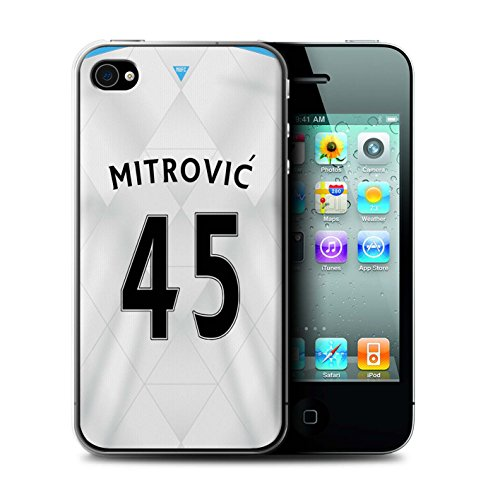 Offiziell Newcastle United FC Hülle / Case für Apple iPhone 4/4S / Pack 29pcs Muster / NUFC Trikot Away 15/16 Kollektion Mitrovic