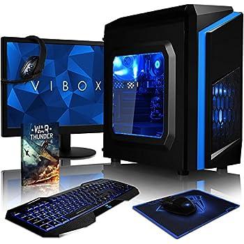 VIBOX Killstreak SA4-41 Gaming PC Computer mit War Thunder Spiel Bundle, 22 Zoll HD Monitor (3,9GHz AMD A4 Dual-Core Prozessor, Radeon 8370D Grafik Chip, 4Go RAM, 1TB HDD, Ohne Betriebssystem)