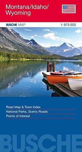 Montana/Idaho/Wyoming: Busche Map Straßenkarte, 1:975 000 (Busche Map Straßenkarten)