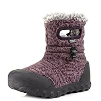 Kids Girls Bogs B-Moc Dash Plum Multi Thermal Waterproof Wellies Boots
