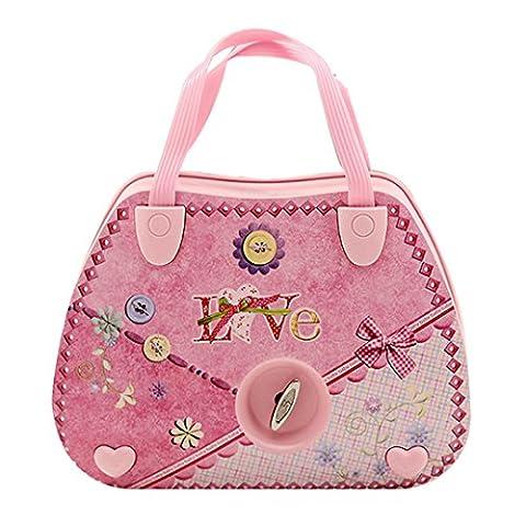 Meliya Mädchen Mini Handtasche Style Musical Jewelry Box Ballett Musik Schmuck Fall mit Spiegel, rose, Einheitsgröße
