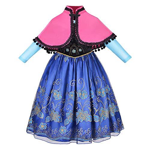 NNDOLL Kostüm Karneval d'Halloween Kleid Anna Prinzessin 160