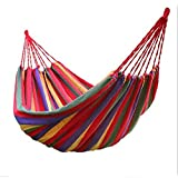 PowerLead Phkc K001 Hammock Cotton Fabric Travel Camping Hammock 2 Person 450lbs for Hammock Chair Bed Outdoor Bedroom Indoor