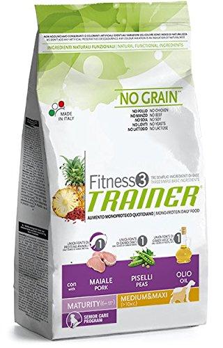 Fitness3 Trainer No Grain Maturity Medium Maxi Maiale Piselli Olio 12,5 kg