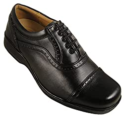 Action Synergy Mens ME1235 Black Formal Shoes 6 UK