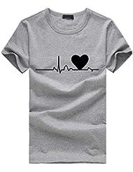 37241470d963c Amazon.es  Modas Blusas Elegantes - Gris   Camisetas y tops   Mujer ...