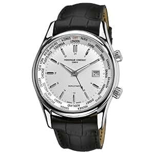 Frederique Constant - FC-255S6B6 - Montre Homme - Quartz Analogique - Bracelet Peau Noir