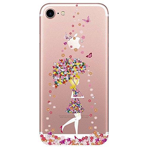 "Qissy® iPhone 7 Funda,Carcasa iPhone 7 Case Cover Dibujos Animados Silicona Suave Funda para Apple iPhone 7 4.7"" (22)"