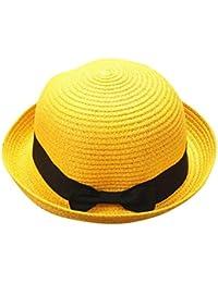 Madre Y Yo Bebé Bowknot Niños Sombrero Transpirable Sombrero De Paja Sombrero  De Niños Sombrero De 379dcb3871d