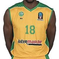 BIGSPORTS Replica Eurocup Limoges Csp Jaiteh 18 Maillot de Basketball Homme