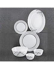 Cello Zarah Marvel Maze Opalware Dinner Set 19Pieces White