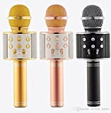 Kartik Mike Handheld Wireless Q858 Microphone with Bluetooth Speaker for All iOS/Android Smartphones (Assorted Color)
