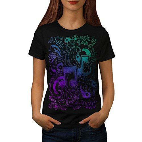 musical-ornament-sound-passion-women-new-black-xl-t-shirt-wellcoda