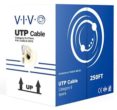 Vivo (CABLE-V015) Ethernet-Kabel/Draht, UTP, Cat-6 (CCA), 250 m, Grau