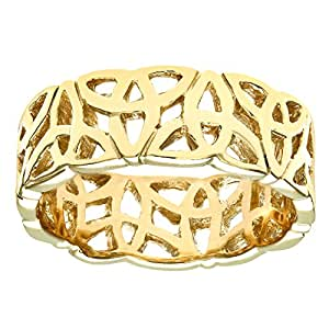 Citerna 9 ct Yellow Gold Band Ring - Size H