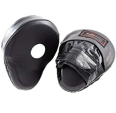PRO IMPACT professional - Pratzen (gekrümmt) Echtleder - Schlagpolster MMA, UFC, Kick Boxing