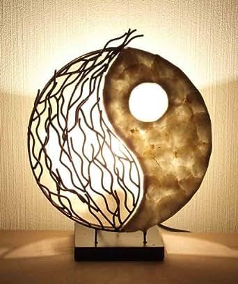 asiatische tischleuchten yin yang la12 92 s tischlampen designer stimmungsleuchten bali. Black Bedroom Furniture Sets. Home Design Ideas