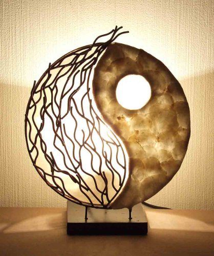 Asiatische Tischleuchten Yin Yang Metal (LA12-92/M), Tischlampen, Designer Stimmungsleuchten, Bali (Yin-yang-stoff)
