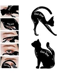 Carte en Forme de Chat LuckyFine- Outil Maquillage aux Yeux- Eyeliner Ombre à Paupières -Effet Parfait Pratique...