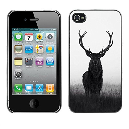 - Deer Antlers Hunter Hunting Spring Majestic For iPhone 4 / 4S Copertura dura Snap On Cell Phone @ Cat Family