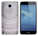 yayago Hülle für Huawei Honor 5C / Huawei GT3 Silikon Schutzhülle Hülle Case Backcover Tattoo Ornament Mandala Design transparent Tasche