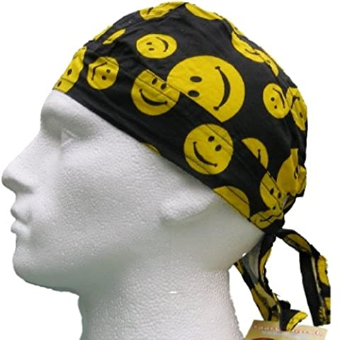 Fitted BANDANA Yellow Smiley Face #1