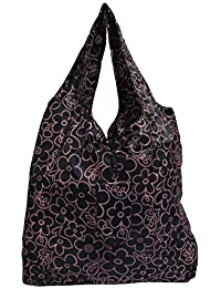 Floral Print Stylish Folding Pocket Tote Bag For Travel Shopping Picnic Beach Hiking Trips