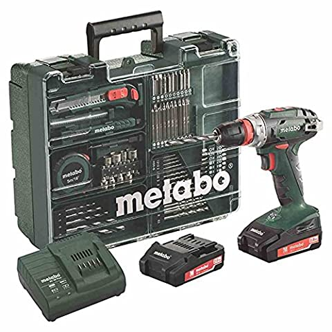 Metabo BS 18 Quick Set Perceuse-visseuse sans fil 18 V/2,0 Ah, Mobile Atelier,
