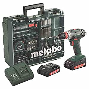 Metabo Akkuschrauber / Akku Bohrschrauber Mobile Werkstatt BS 18 Quick Set (602217880) im Kunststoffkoffer; mit 2 Li…