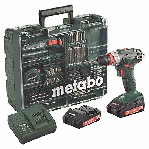 Metabo BS 18 Quick Set 18 V / 2,0 Ah Akku-Bohrschrauber, Mobile Werkstatt, 602217880