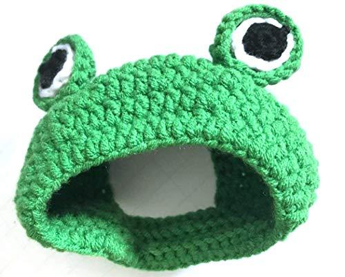 Yonfan Katzenhut Katzenmütze Handarbeit Mütze für Hunde, Haustier, Welpen Winter Kostüm Cartoon Frosch Zubehör Hut