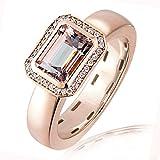 Goldmaid Damen-Ring Reflexion 14 Karat 585 Rotgold 29 Diamanten 0,11 ct. SI/H 1 Morganit 1,65 ct. Gr. 54 (17.2) Fa R4949RG54 Brillanten  Diamantring Verlobung