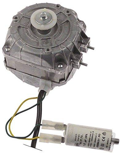 EURO MOTORS 83-2008/1 Lüftermotor 230V 8W 1900U/min 50Hz mit Kondensator Kabel 550mm 1,5 µF Gleitlager Länge 50mm L3 88mm -