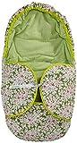 Kokodoo 9518 Babyschale Fussack Zweiseitig Blume, grün