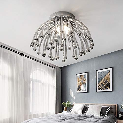 BuyBuyBuy Einfache Moderne LED Wohnzimmer Deckenleuchte Nordic Warme Romantische Kreative Kinderzimmer Schlafzimmer Beleuchtung (45 * 45 * 30 CM) edel und elegant (Farbe : Chrome) -