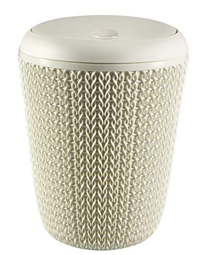 Keter Papelera para el baño Knit, Blanco Oasis, 20.4x20.4x27.5 cm, 235057