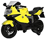 #5: Wembley Original License Quality Battery Operated Hand Control Pedal Break Ride-on Bike 30W Motor / 12V Battery with Music and Lights (Yellow Colour)
