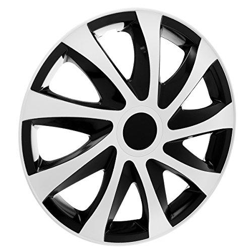 """KN23 Tapacubos 15"""" - Negro Blanco - 4 piezas - 5902538500043"""