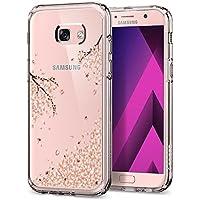 Funda Samsung Galaxy A5 2017, Spigen [Crystal Shell] AIR CUSHION [Blossom] Parte trasera transparente de policarbonato+ TPU bumper para Samsung A5 2017, Carcasa funda Galaxy A5 2017 - (573CS21492)