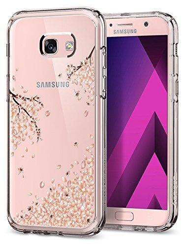 spigen Funda Samsung Galaxy A5 2017, [Crystal Shell] Air Cushion [Blossom] Parte Trasera Transparente de policarbonato+ TPU Bumper para Samsung A5 2017, Carcasa Funda Galaxy A5 2017 - (573CS21492)