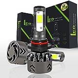 Comprajunta 2Xmini 6 Headlight Bulbs Rental LED Lights Super Bright Lamp With COB Chip For Car Vehicle Auto Car Anti-Fog Light,9006