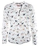 Emily van den Bergh Damen Bluse Größe 38 Weiß (weiß)