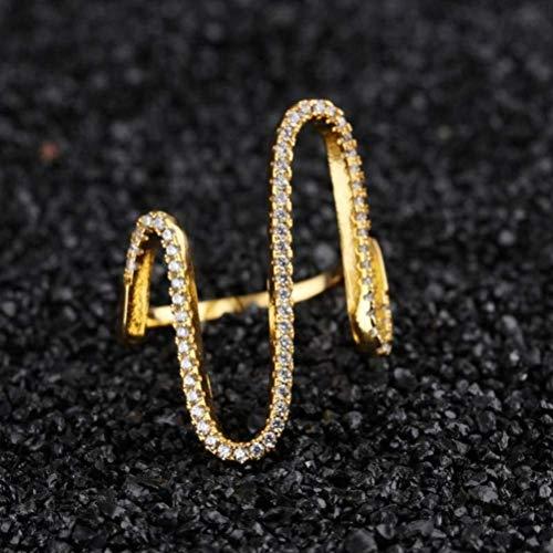 rea Süße Temperament Wilde Diamant Ring Weibliche Persönlichkeit Mode Hipster Zeigefinger Ring Kleine Schmuck, Party Geometrie, Opal, Männer, mit 18 Karat Gold, US 6, Ohrring, ()