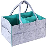 GZQ Baby Nursery Organizer Multifunction Cot Cot Bed Crib Hanging Storage Bag for Stuffed Toys Diaper Nappies Milk Powder Moist Toilet Tissue Towels Clothes (Style B)