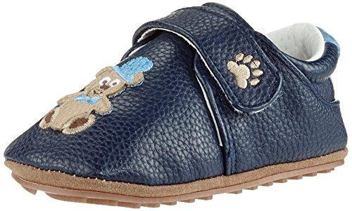 Rose & Chocolat Chaussures Bébé Chaplin Bear Bleu Taille 17/18 cm
