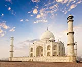 Image for board game PJCNEW Jigsaw Diy Puzzles For Adults 1000 Piece Sunrise And Sunset Agra India Taj Mahal For Friend Kid Family Birthday Gift