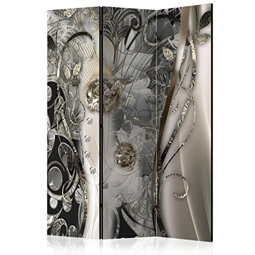 murando - Biombo con Tablero de Corcho - Abstracto 135x172 cm - de impresión Bilateral - Lienzo de TNT Foto Biombo Decorativo para Interiores - Flores Diamante g-C-0085-z-b