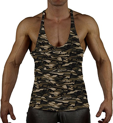 99GYM Version2 MOSTMUSCULAR CUT Bodybuilding Stringer muscle Muskel Shirt (XXL, Classic Army) (Top Tank Camouflage Herren)