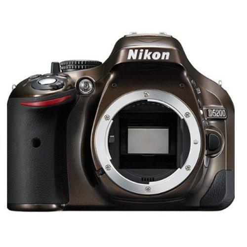 Nikon D5200 SLR-Digitalkamera (24,1 Megapixel, 7,6 cm (3 Zoll) TFT-Display, Full HD, HDMI) nur Gehäuse Bronze (Nikon-digitalkamera-nur Gehäuse)
