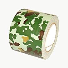 J.v. Conversión wgrn425Premium Grade camuflaje cinta americana, color Woodland Forest Green 4 In. X 25 Yds. (96Mm X 23M)